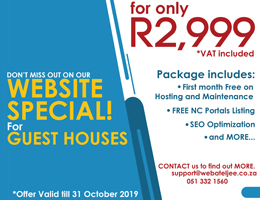 Website Special for Guest Houses   Kuruman Accommodation, Business & Tourism Portal